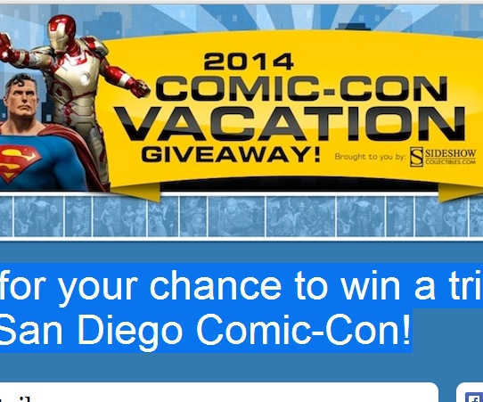 Win a trip to Comic-Con 2014