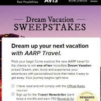 AARP Dream Vacation Sweepstakes