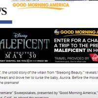 Abc Good Morning America Maleficent Sweepstakes