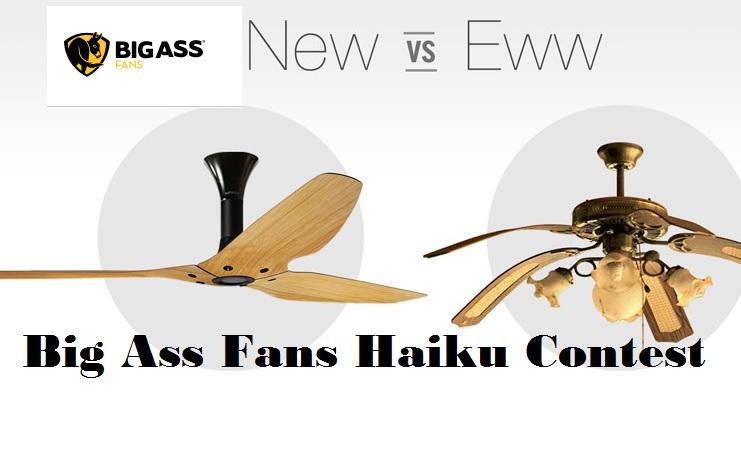 New vs eww haiku ceiling fan contest sweeps maniac new vs eww haiku ceiling fan contest mozeypictures Gallery