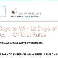 Ellen's 10 Days to win 12 Days of Giveaways sweepstakes