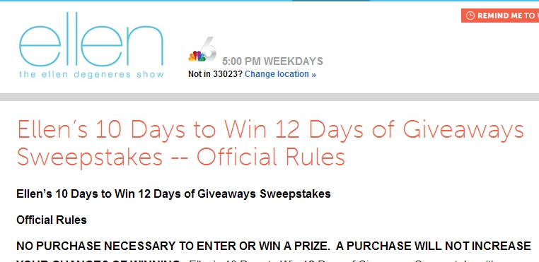 ellen degeneres 12 days of christmas giveaway winners