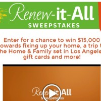 Hallmark Channel Renew It All Sweepstakes