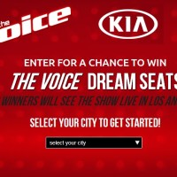 Kia The Voice Dream Seat sweepstakes
