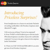 Mastercard Priceless Surprises Sweepstakes