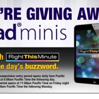 Right This Minute Twitter iPad Mini Giveaway