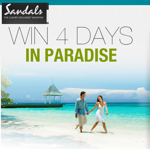Sandals Win 4 Days in Paradise