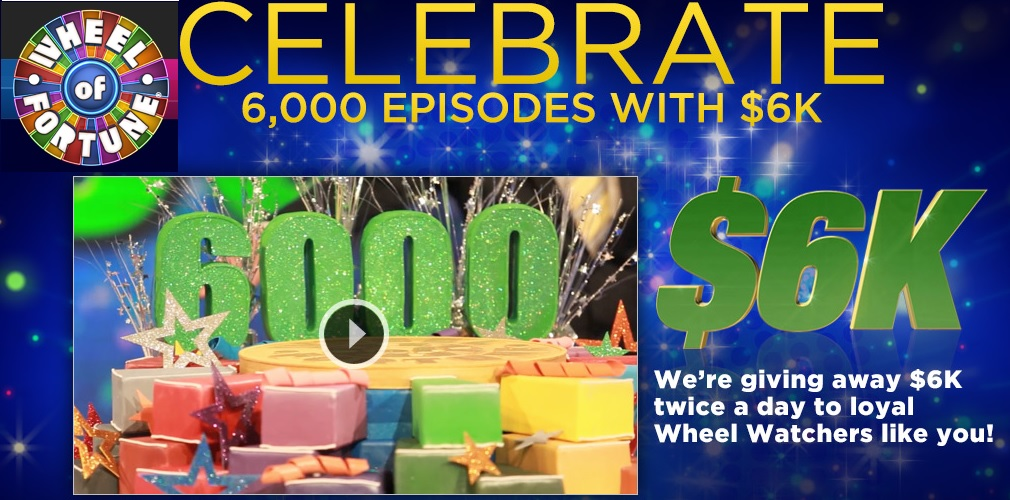 wheel of fortune sweepstakes 2013