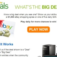 eBay what's the big deal sweepstakes