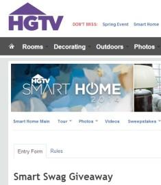 hgtv smart swag giveaway sweeps maniac. Black Bedroom Furniture Sets. Home Design Ideas