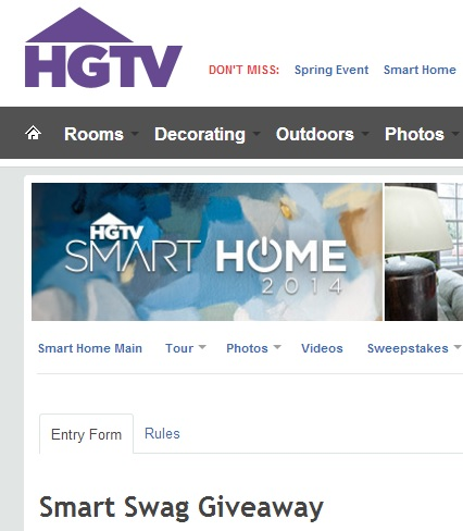Enter HGTV Sweepstakes