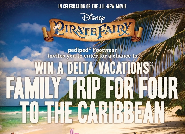 Disney Pirate Fairy win a trip sweepstakes