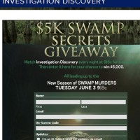 Investigation Discovery $5k Swamp Secrets Giveaway