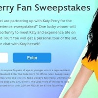 Radio Disney Katy Perry fan Sweepstakes