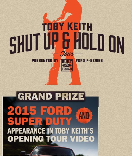 Toby Keith Ford Sweepstakes