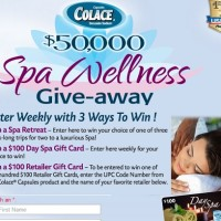 Colace $50000 Spa Wellness Giveaway Sweepstakes