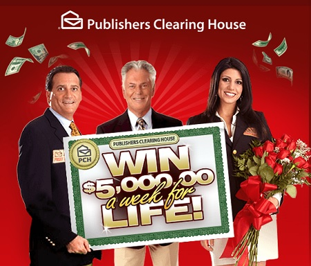 Publishers clearing house 5000 a week for life