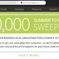 Groupon Summer to Redeem Sweepstakes