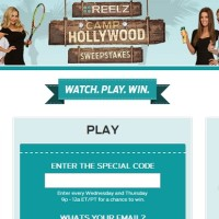 Reelz Camp Hollywood sweepstakes