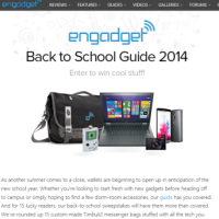 Engadget back to school sweepstakes 2014