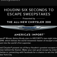 History Channel Houdini Six Seconds to Escape Sweepstakes