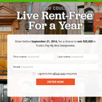 Trulia Pay My Rent Sweepstakes 2014