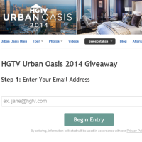 HGTV Urban Oasis 2014 Sweepstakes