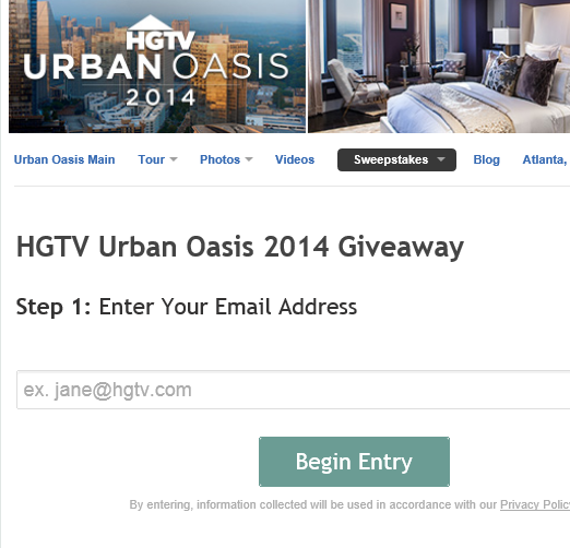 living room ideas Top 8 of Hgtv Urban Oasis Sweepstakes Entry Form