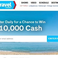 Travel Channel $10000 Cash Giveaway