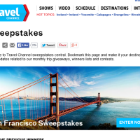 Travel Channel sweepstakes win a trip to San Francisco