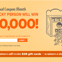 Coupons.com sweepstakes win $10,000