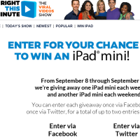Right This Minute Win an iPad Mini