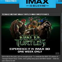 Teenage Mutant Ninja Turtles IMAX Sweepstakes