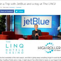 JetBlue Ellen Degeneres Sweepstakes