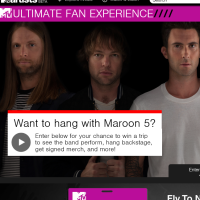 MTV Maroon 5 Ultimate Fan Experience Sweepstakes
