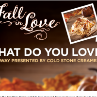 Cold Stone Creamery Fall In Love Giveaway