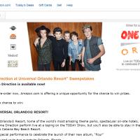 Amazon One Direction Sweepstakes