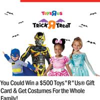 Ryan Seacrest Toys R Us Halloween Sweepstakes