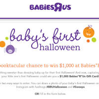 Baby's First Halloween Sweepstakes 2014