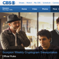 Scorpion Weekly Cryptogram Sweepstakes