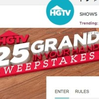 25 Grand in your hand sweepstakes HGTV 2014