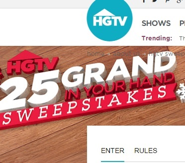 Hgtv win it sweepstakes holiday
