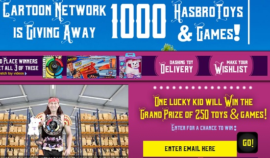 cartoon network holiday giveaway sweeps maniac