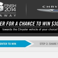 Chrysler Big Finish 2014 Giveaway