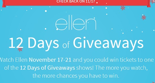 ellen 12 days of giveaways 2014