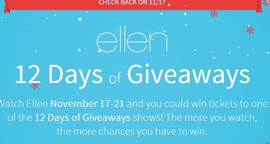 Ellen degeneres 12 days of christmas giveaway