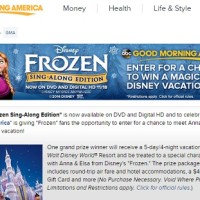 Good Morning America Frozen Sing-Along Edition Sweepstakes
