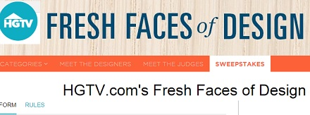 HGTV Fresh Faces Of Design Sweepstakes