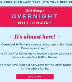 Old navy million dollar giveaway 2018