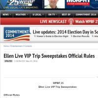 Ellen Live VIP Trip Sweepstakes